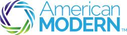 american modern blue and green logo matrix insurance